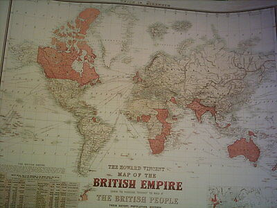 The Howard Vincent Map Of The British Empire 1924 21st Edition Reprint Map