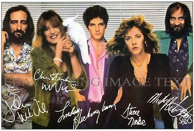 FLEETWOOD MAC GROUP AUTOGRAPHED 6x9 RP PROMO PHOTO