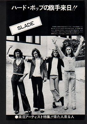 1974 Slade vintage JAPAN mag photo pinup / mini poster / clipping cutting