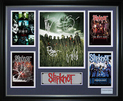 SlipKnot Signed Framed Memorabilia