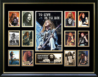 To Live Is To Die Signed Framed Memorabilia
