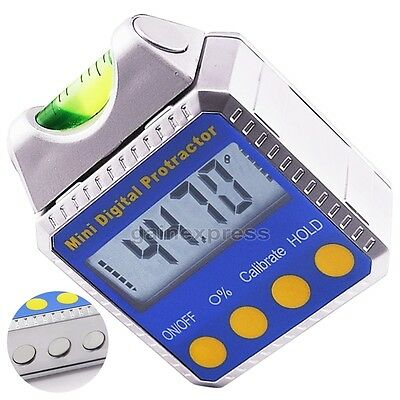 Digital Inclinometer Angle Gauge Meter Protractor Spirit Level 360° with Magnets