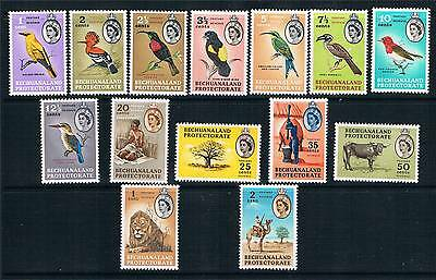 Bechuanaland 1961 Definitive set SG 168/81 MNH