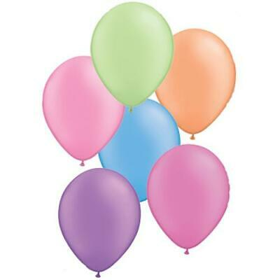 """Hot Neon Colours Latex 11"""" Qualatex Balloons x 5 - You Choose The Colour"""