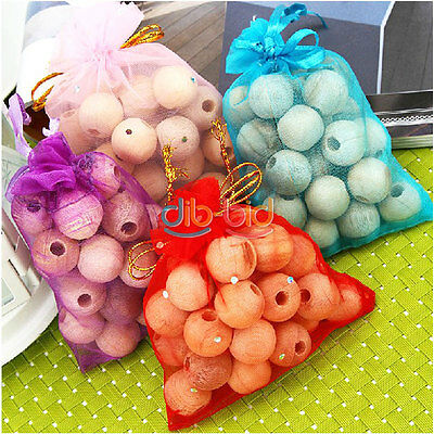 1 Pack 20Pcs Wood Moth Balls Camphor Bug Repellent Wardrobes Cloth Drawers OCAU