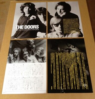 2013 The Doors 8pg 3 photo JAPAN mag article / japanese clippings cuttings