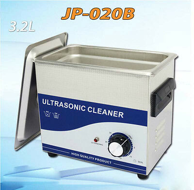 Hot Sale JP-020B Stainless Ultrasound Cleaner 3.2L 40,000 Hz 120W For Jewelry