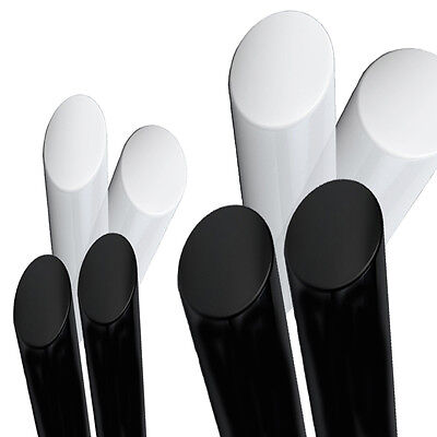 40mm ACETAL Black ROD, Natural White Engineering Plastics Round Bar Copolymer