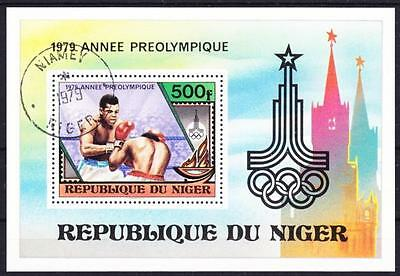Boxen Boxsport Sport Niger Block 24, Boxing, Preolympiade 1979, gest.