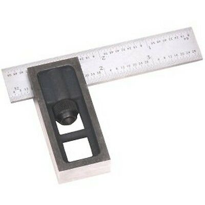"4"" High Precision DOUBLE SQUARE 4R Steel Blade Machinist Engineer Carpenter"
