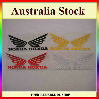Honda Wing Fuel Petrol Tank Sticker Decal Vinyl Motorcycle Bike Truck Car Ute