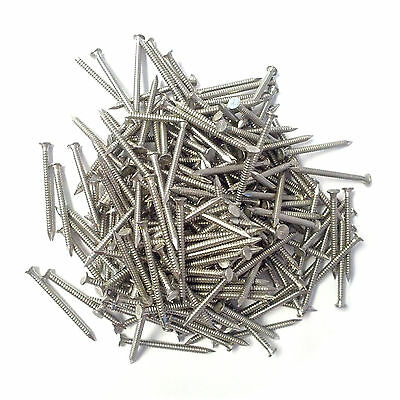 250 30mm x 2mm Stainless Steel Flat Headed Cladding Pins for UPVC Fascias Soffit