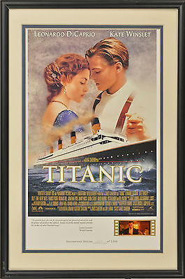 """Limited Edition  """"titanic Lithograph Wit Lighted Film Cel By Willits Designs"""