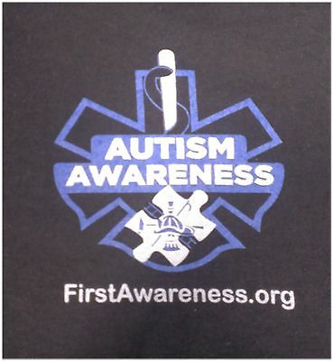 2XL T-shirt Autism Awareness 1st Responder firefighter fireman EMS EMT paramedic