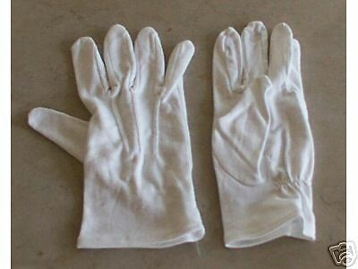White Cotton Dress Gloves, Civil War