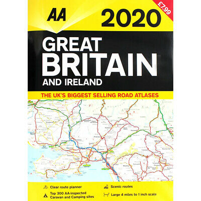 AA 2019 Road Atlas Map Great Britain & Ireland UK Brand New Latest Edition
