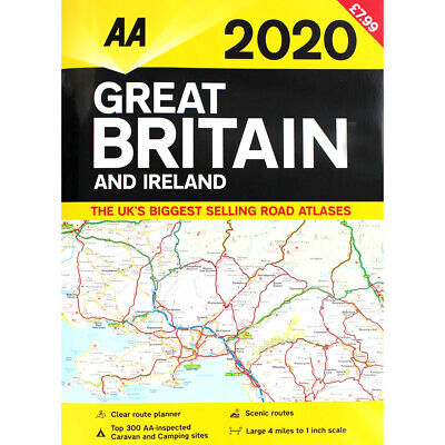 AA 2020 Road Atlas Map Great Britain & Ireland UK Brand New Latest Edition