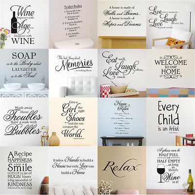 Wall Art Sticker Quotes