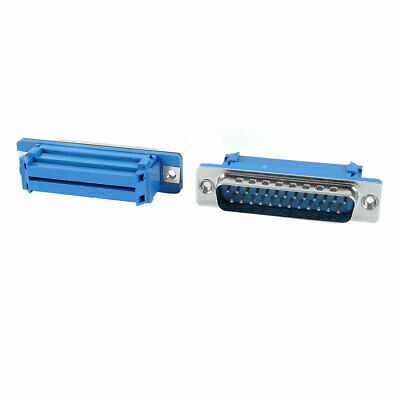 2 Pieces Parallel Port DB25 25Pin Male IDC Plug Flat Ribbon Cable Connector Blue