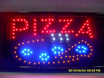 Flashing Led Sign Pizza 48Cm X25Cm