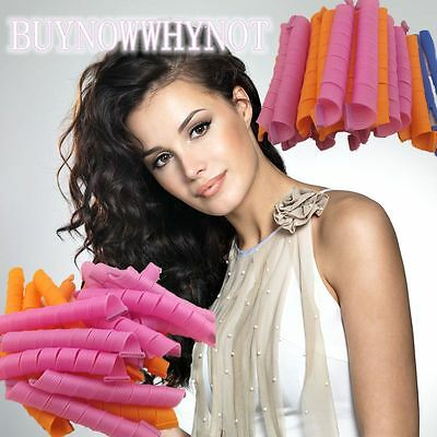 """NEW 55cm/22"""" Magic Hair Curlers Leverage Long Curlformers Spiral Rollers"""