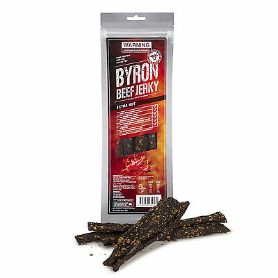 EXTRA HOT CHILLI 2 x 100g bags BEEF JERKY