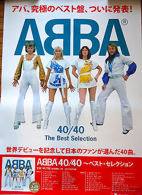 ABBA 40/40 The Best Selection CD JAPAN PROMO POSTER 2014 MINT B2 72.8cm×51.5cm