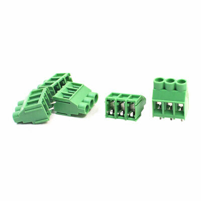 5pcs KF635 300V 6.35mm Spacing 4-Pole PCB Screw Terminal Barrier Block Connector