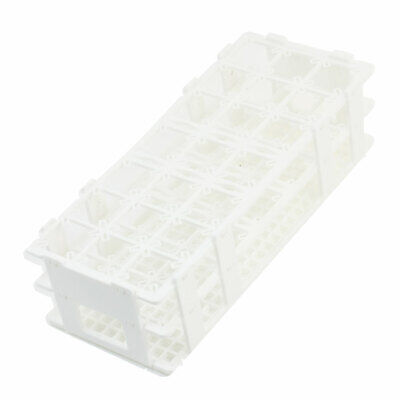 Lab White Plastic 21 Position 30mm Hole Test Tube Stand Rack