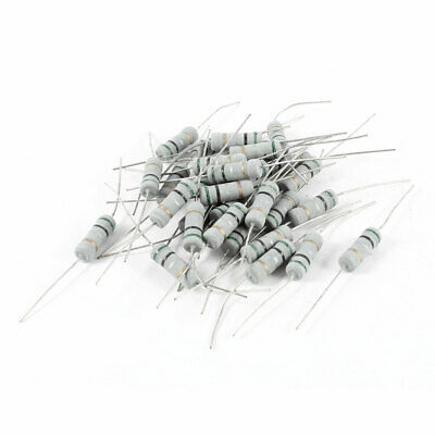 30 Pcs Axial Lead 2W 0.5Ohm 5% Tolerence Metal Oxide Film Resistor
