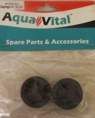 Aquavital Av360 Air Pump Two Spare Diaphragms 9325136059984