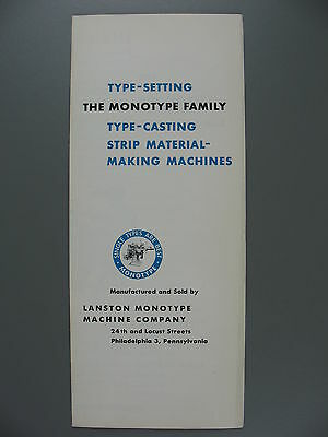 Illustrated Promotional Flyer for Monotype Casting Machines