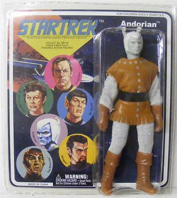 "Star Trek Andorian Diamond Select Retro Cloth Mego Style Action Figure 8"" Mint"