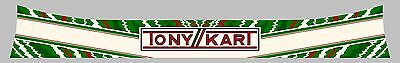 Tonykart Evk Style Helmet Visor Sticker/strip - Karting