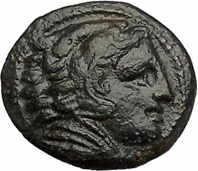 Alexander III the Great as Hercules 336BC Ancient Greek Coin Bow Club i40942