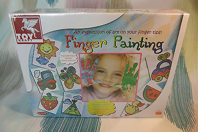 Toy Kraft Children's Finger Painting Craft Kit! With Pictures and Paint!