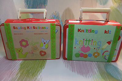 Children's Creative Knitting & Sewing Toy Set Kit in Case Value Pack! 100+ Pcs