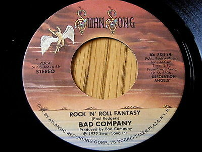 "Bad Company - Rock 'n' Roll Fantasy / Crazy Circles     7"" Vinyl"