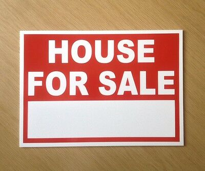 House for sale sign, with space for your own words.  Indoor or outdoor.  (BL-80)