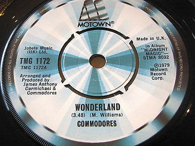 "Commodores - Wonderland     7"" Vinyl"
