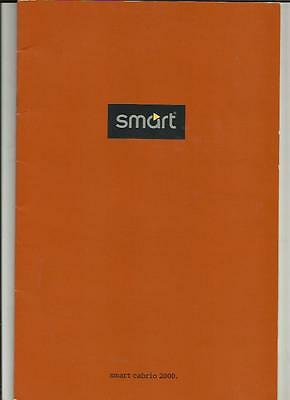Smart City-Cabrio And Pulse, Cabrio And Passion Sales Brochure 2000  French