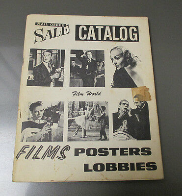 1967 FILM WORLD Mail Order Catalog Annual Posters & Lobby Card Prices VG+ 52 pgs
