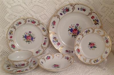 6 Piece Place Setting - Royal Bayreuth China - Savannah - Unused & Minty!