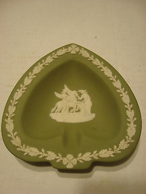 Vintage Wedgwood Jasperware Sage Green Ashtray/Jewelry Dish Made in England