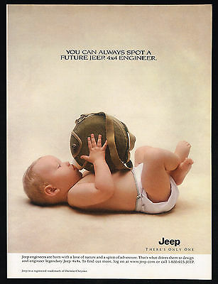 1999 Jeep 4x4 Future Engineer Photo Cute Baby Bottle Canteen Vintage Print Ad