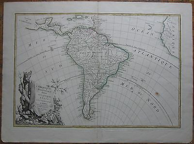 Lattre: Large Map of South America - 1762