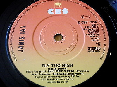 "Janis Ian - Fly Too High     7"" Vinyl"