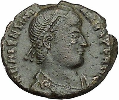 VALENTINIAN I 364AD Ancient Roman Coin Nike Victory Cult Angel  i41008