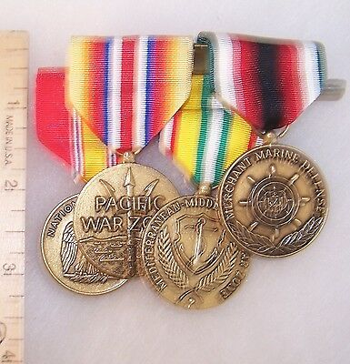 USA Group of 4 Medals of a Merchant Marine
