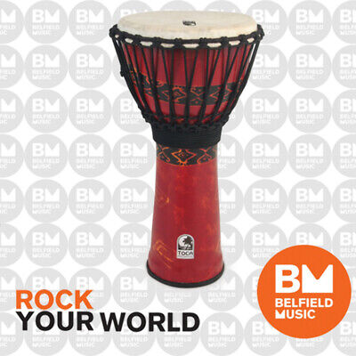 "Toca 12"" Freestyle Djembe Percussion African Hand Drum Bali Red 12 Inch SFDJ12RP"